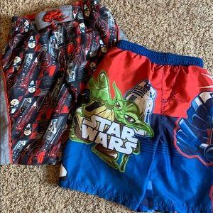 Avengers & Star Wars Boys bathing suit trunks